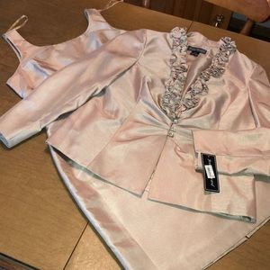 Jessica Howard Champagne Cocktail Dress and Jacket